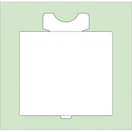 CARDBOARD PLATES WHITE ADHESIVE (PACK 6 UND.)