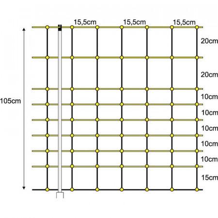 MALLA ELÉCTRICA CABRAS 1,05X50cm