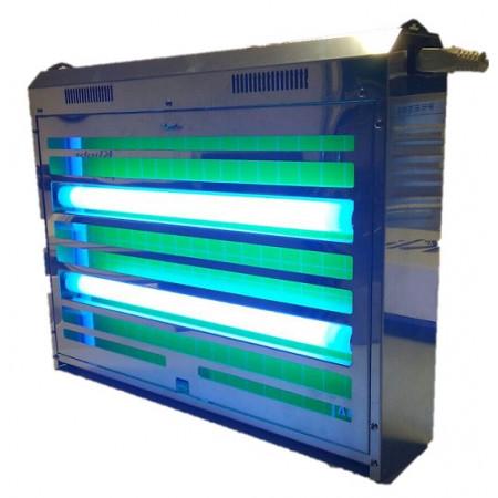 Lampe exterminatrice d'insectes volants avec 4 tubes 15w. par feuille adhésive.