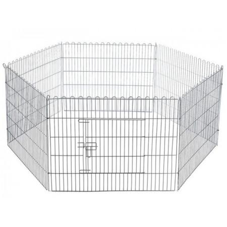 parque hexagonal de chapa galvanizada para perros