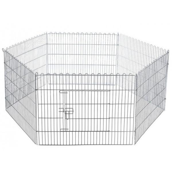 parc hexagonal en tôle galvanisée pour chiens