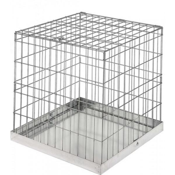 Cage en tôle galvanisée pour la présentation des animaux de compagnie.
