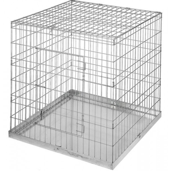 metal pet cage with tray