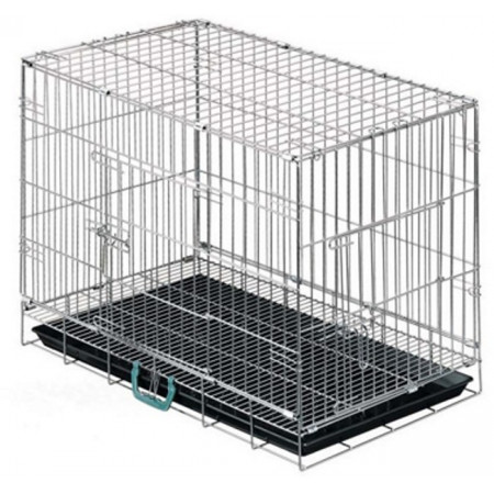 pet cage with bottom tray