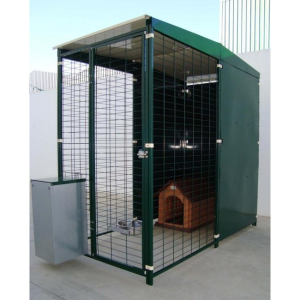 KENNEL WITH ROOF 2X1M