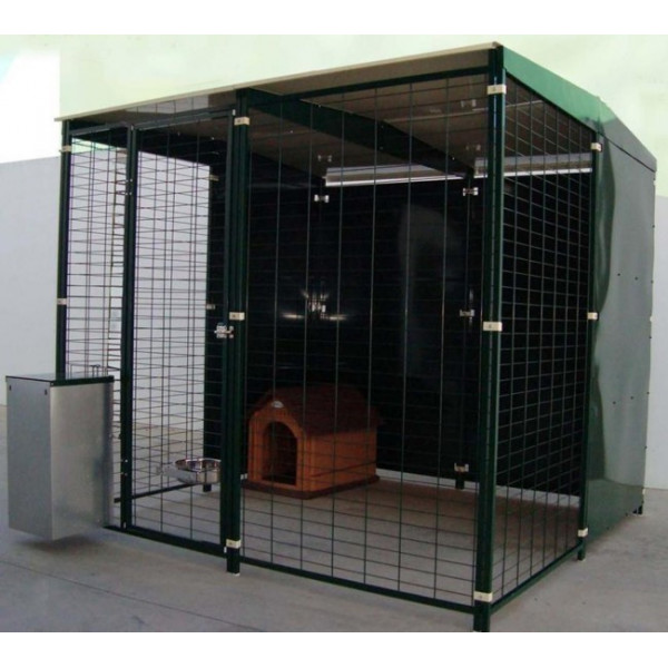 KENNEL WITH ROOF 2X2M
