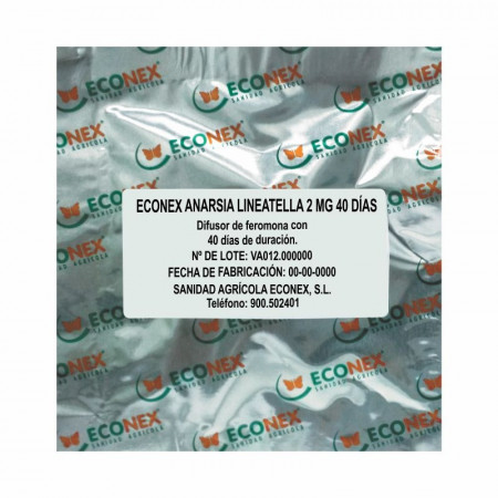 DIFUSOR ECONEX DE FEROMONA ANARSIA LINEATELLA 2MG (MINADOR DEL MELOCOTONERO)