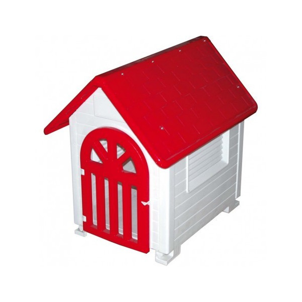 DOGS PLASTIC HOUSE WITH DOOR