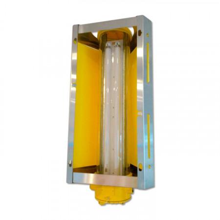 Lámpara especial atex para atrapar moscas y mosquitos por lámina adhesiva