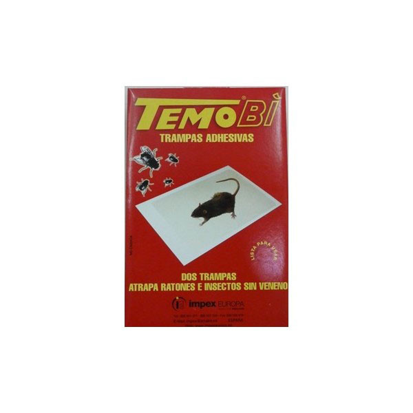 TRAMPAS ADHESIVAS PARA RATONES E INSECTOS TEMOBI Mod. 0100173