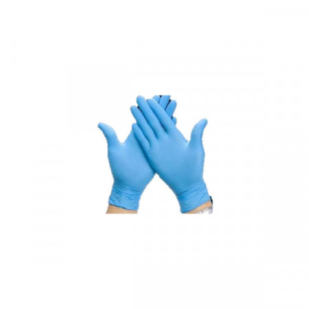 BLUE NITRILE GLOVES WITHOUT...