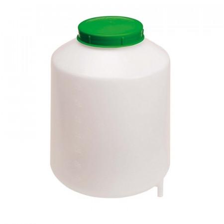 Depósito de plástico de color blanco