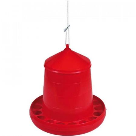 Red plastic hopper 4kg.