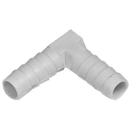 Codo de plástico 10/10 mm de dos salidas