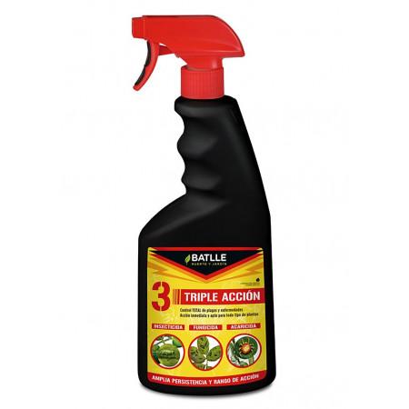 triple acción de insecticida ¡, fungicida y acaricida