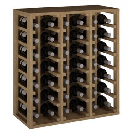 Oak wine rack for 42 bottles