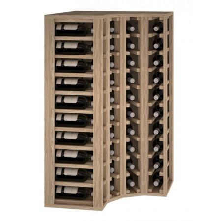 Casier à bouteilles modulaire en chêne pour 40 bouteilles