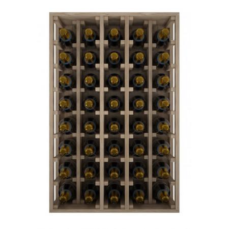 Casier à vin bouteilles de champagne en chêne spécial