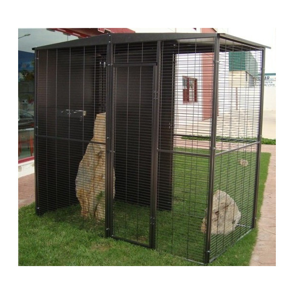 PARROTS GARDEN AVIARY 2X1M WITH 2 WATERS ROOF