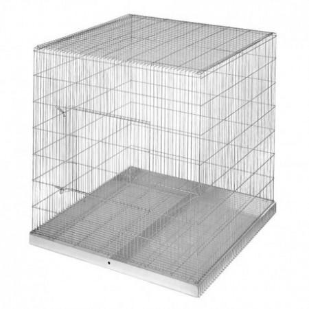 jaula para exposición de loros y otras aves