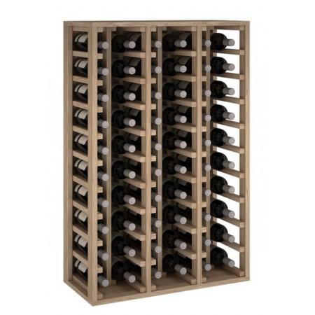 Oak bottle rack for 60 bottles