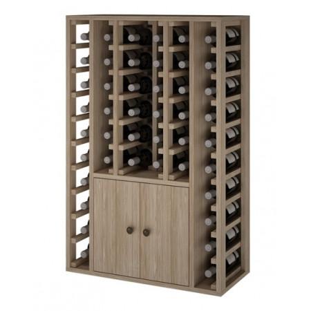 Wine rack for 46 bottles with 2 doors