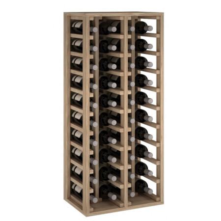 Oak wine rack for 40 bottles