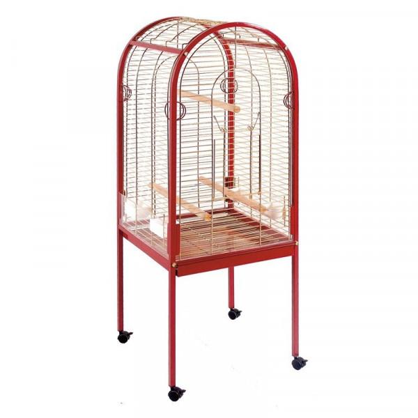 volière de perroquet courbe avec porte supérieure