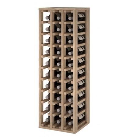 oak bottle rack for 30 bottles