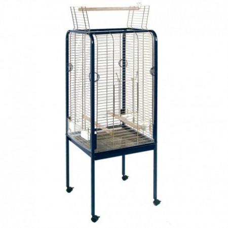 jaula recta para loros con apertura superior