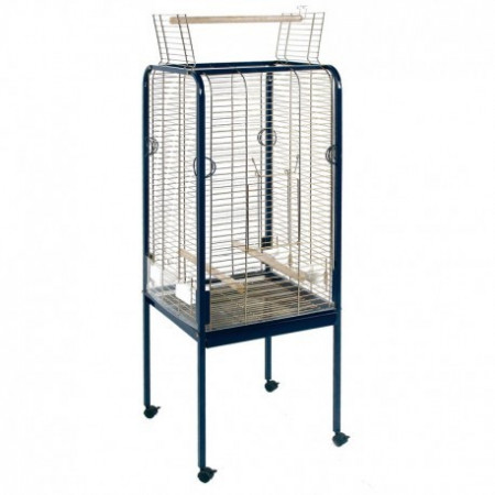 straight cage for parrots with top opening