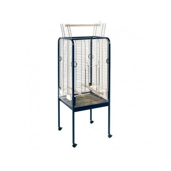 cage droite pour perroquets avec ouverture supérieure
