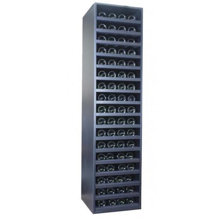 Botellero negro de baldas para 64 botellas
