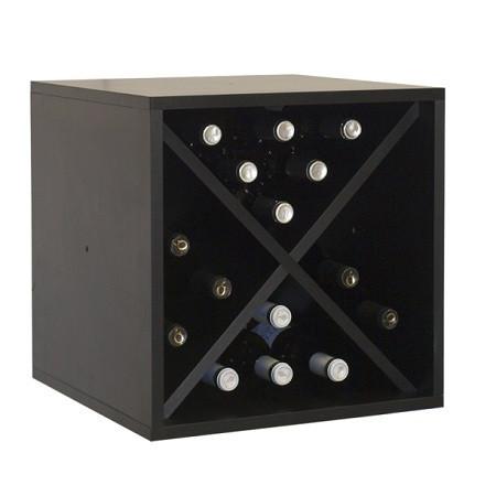 Casier à vin noir pour 16 bouteilles