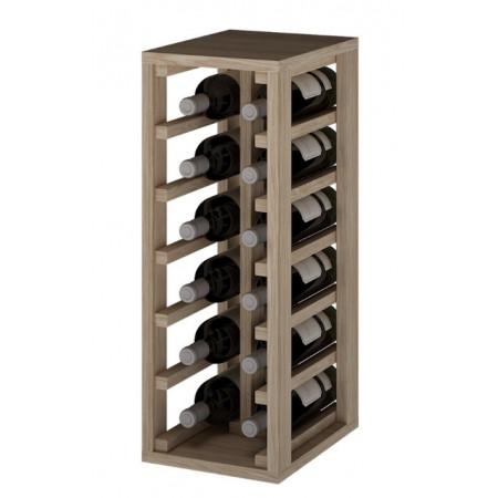 Casier à vin en bois de chêne pour 12 bouteilles