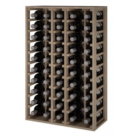 Oak wine rack for 50 magnum bottles