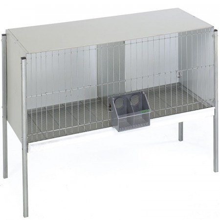 Cage for pigeons with 2 departments