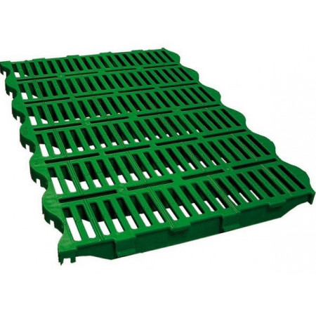 Plastic floor, it is a double floor for better cleaning and insulation