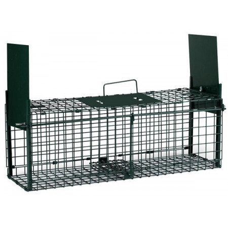 trampa jaula para captura de roedores con dos puertas