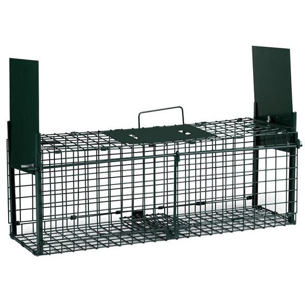 Cage piège à rongeurs à deux portes