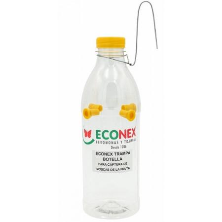 piège jetable en forme de bouteille avec 4 entrées