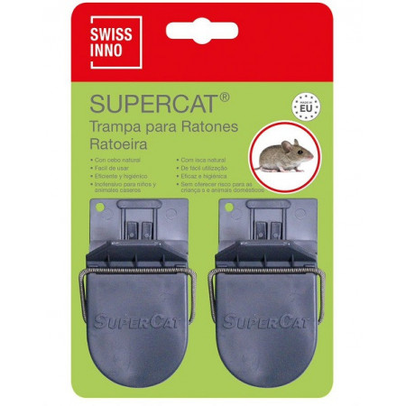pack of 2 plastic mouse traps