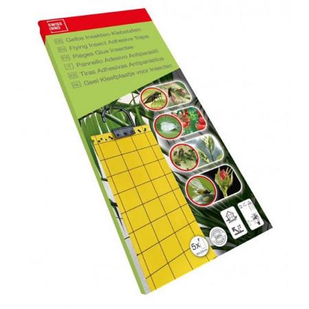Tiras adhesivas para insectos en jardineria