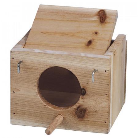 Différentes boîtes en bois pour oiseaux
