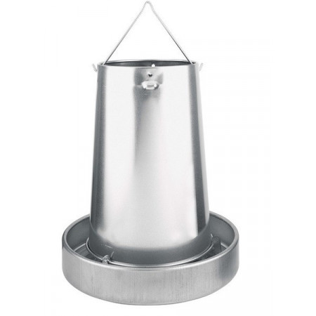 Hanging metal hopper with...