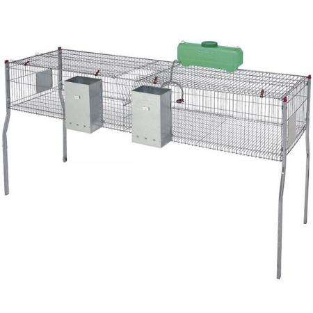 Cages with 2 and 4 departments for rabbits