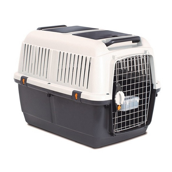 small cat carrier ideal for travel.