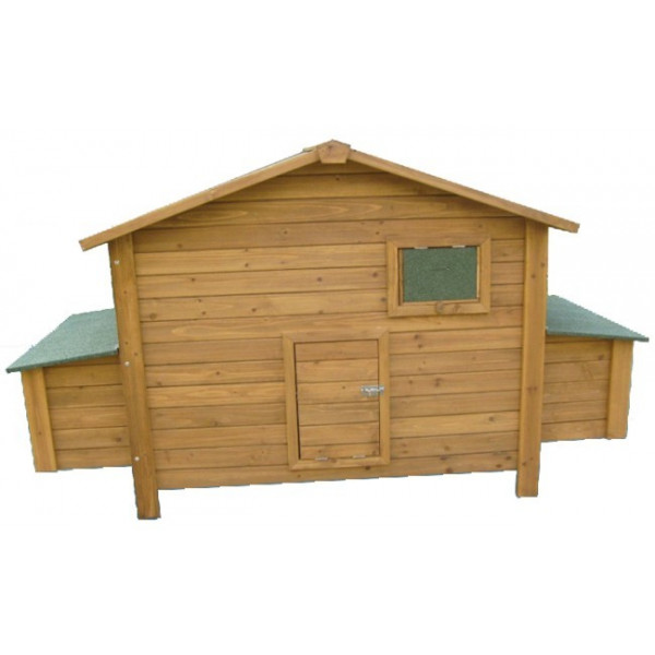 Large wooden house for 6 laying hens