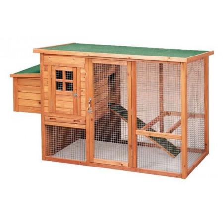 maison rectangulaire en bois pour 5 poules pondeuses