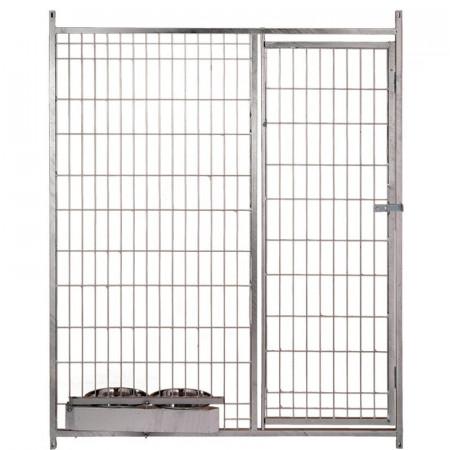 Frente 150 cm para boxes con puerta y comederos
